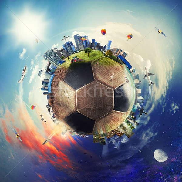 ストックフォト: グローバル · 表示 · サッカー · 世界 · サッカー · ボール