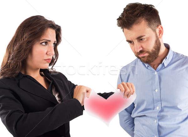Love relationship ended Stock photo © alphaspirit