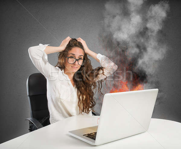 Stress in the office Stock photo © alphaspirit
