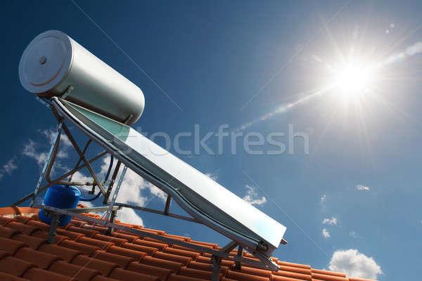 Renewable energy for house Stock photo © alphaspirit