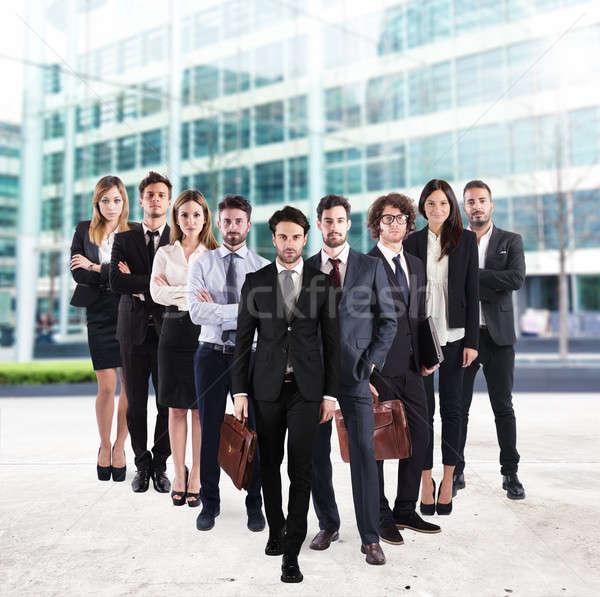 équipe commerciale entreprise groupe hommes femmes gens d'affaires Photo stock © alphaspirit