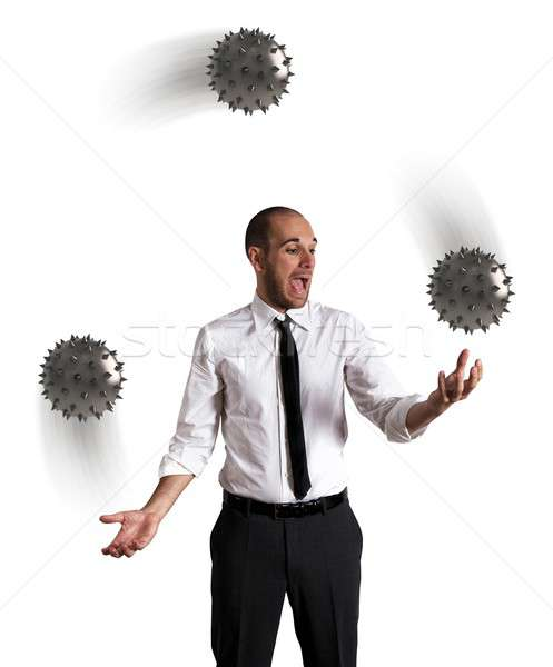 Trudny działalności człowiek pracy biznesmen krzyk Zdjęcia stock © alphaspirit