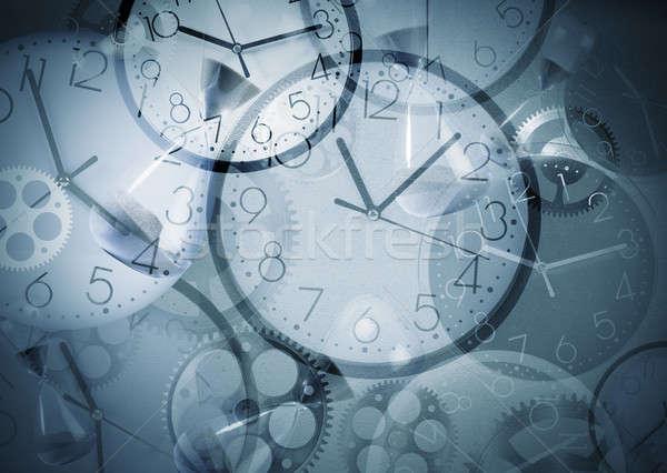 Clock background Stock photo © alphaspirit