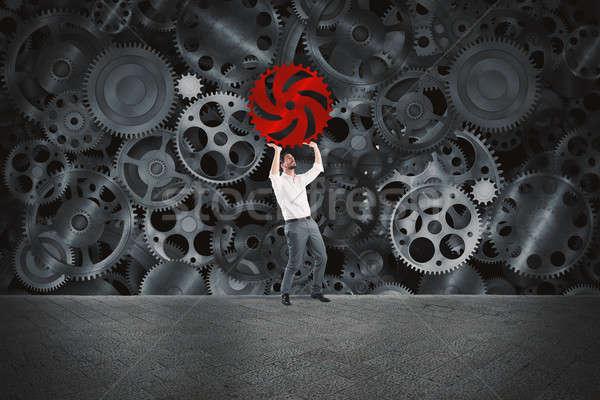 отсутствующий Gear бизнесмен бизнеса передач механизм Сток-фото © alphaspirit