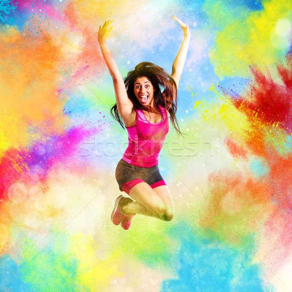 Fitness profesor vară culori stropire sănătate Imagine de stoc © alphaspirit
