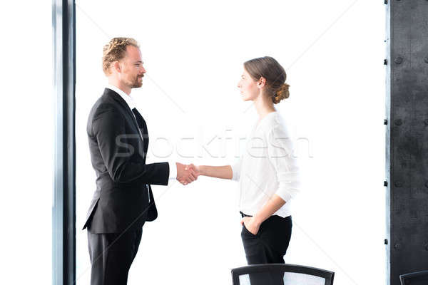 Business handshake. Concept of teamwork and partnership Stock photo © alphaspirit