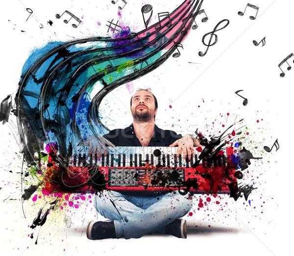 Play the piano Stock photo © alphaspirit