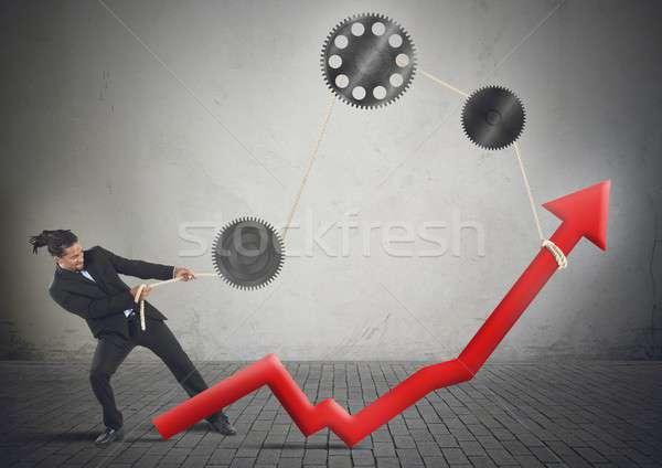 Strong businessman Stock photo © alphaspirit