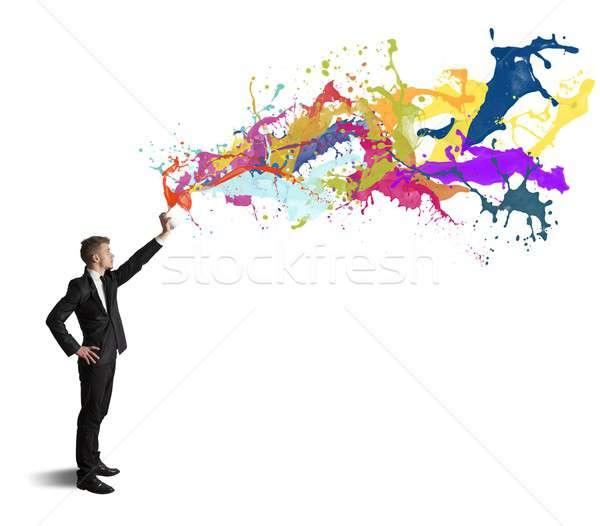 Kreatywność działalności biały niebo ulicy sztuki Zdjęcia stock © alphaspirit