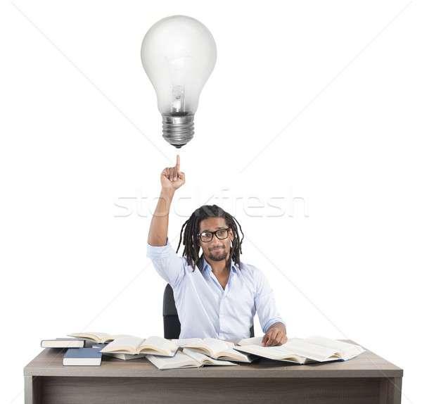 учитель блестящий Идея Smart человека школы Сток-фото © alphaspirit