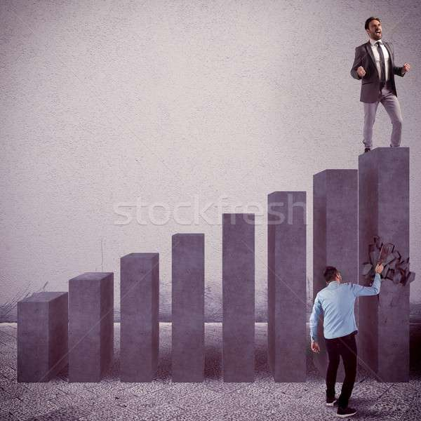 Against the financial system Stock photo © alphaspirit