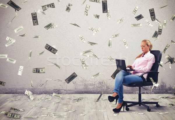 Earn money working Stock photo © alphaspirit