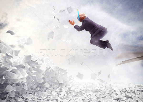 Businessman overworked Stock photo © alphaspirit