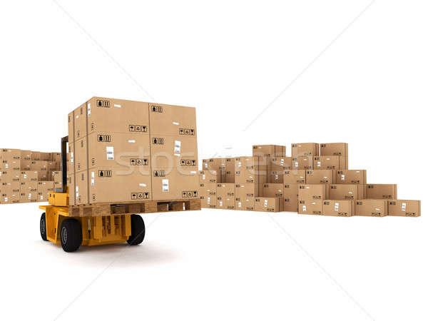 Loading stack of  boxes Stock photo © alphaspirit