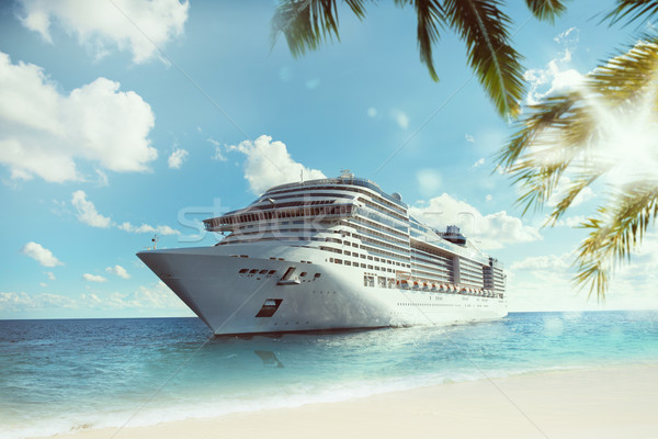 Tropical cruise voyage Stock photo © alphaspirit