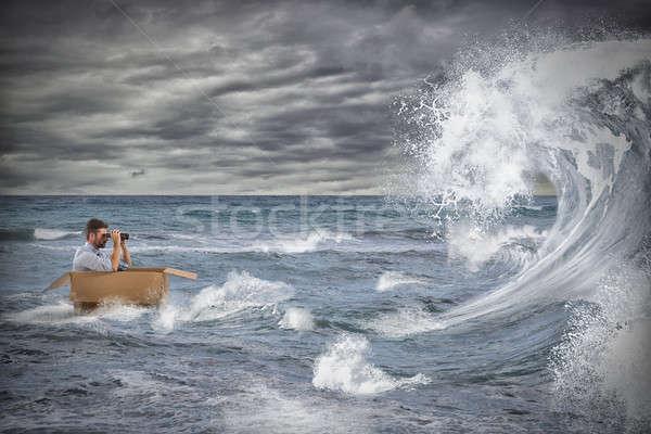 дело кризис подобно бурный морем бизнесмен Сток-фото © alphaspirit