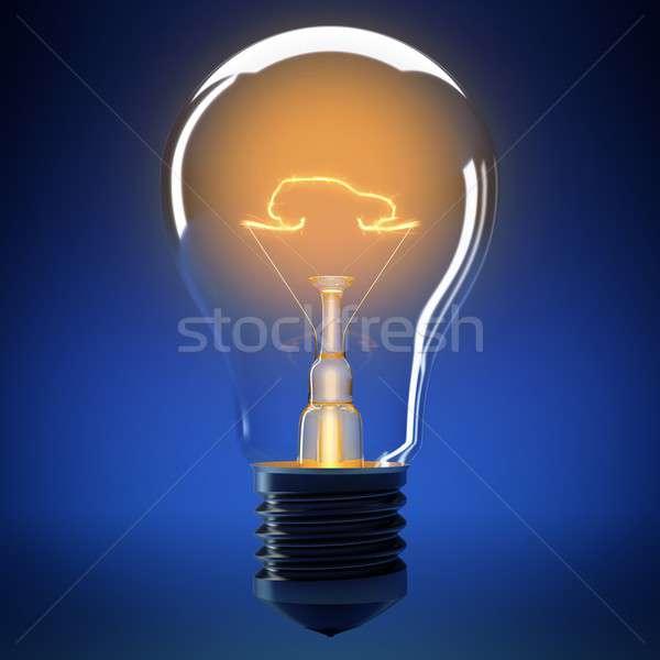 Ampul ışık araba küçük güvenlik lamba Stok fotoğraf © alphaspirit