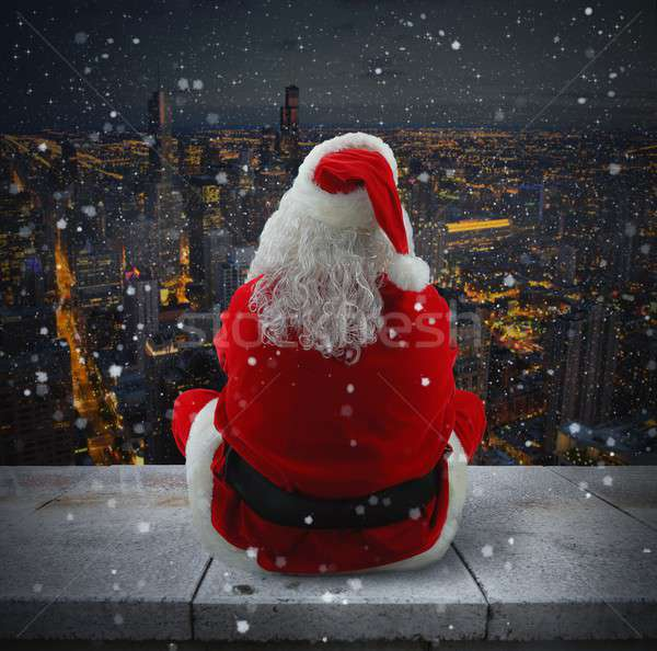 Suggestive Christmas city Stock photo © alphaspirit