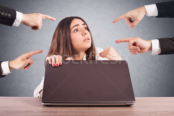 Businesswoman blamed unfairly Stock photo © alphaspirit