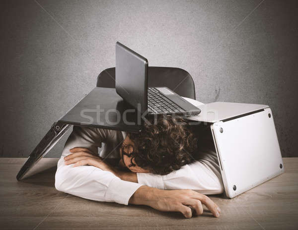 Fatigue and stress in the office Stock photo © alphaspirit