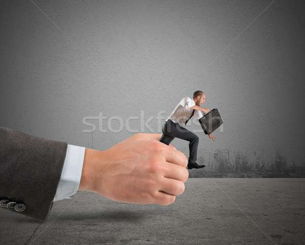 Zakenman weg business hand werk lopen Stockfoto © alphaspirit