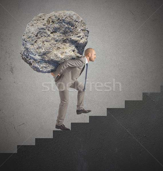 Difficult career and great effort Stock photo © alphaspirit