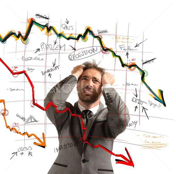 бизнесмен из финансовых крах работу Сток-фото © alphaspirit
