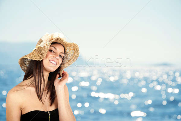 Girl in beach Stock photo © alphaspirit
