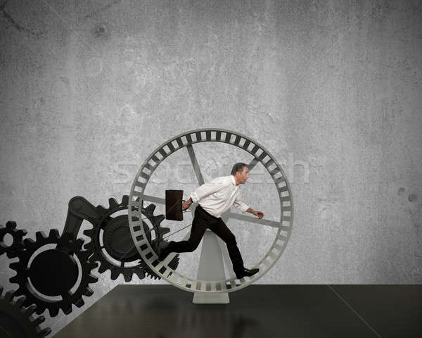 генератор бизнеса власти бизнесмен работает время Сток-фото © alphaspirit