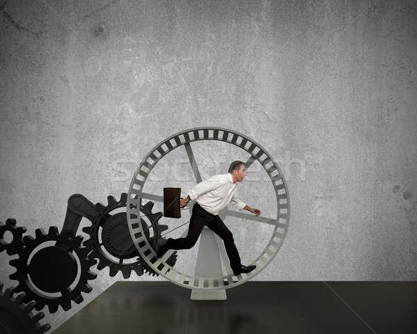 Generator business macht zakenman lopen tijd Stockfoto © alphaspirit