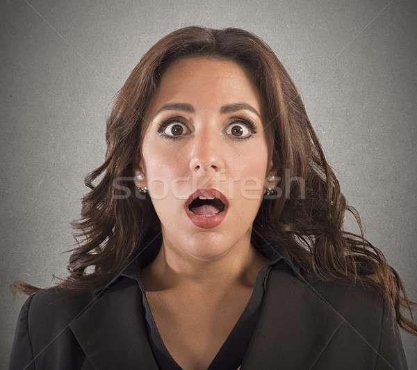 Portret business woman kobieta twarz stres Zdjęcia stock © alphaspirit