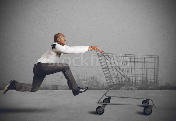 Stock photo: Run to go shopping