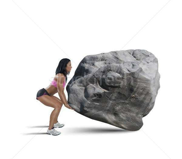 Power of muscular woman Stock photo © alphaspirit