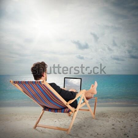 Work on holidays Stock photo © alphaspirit