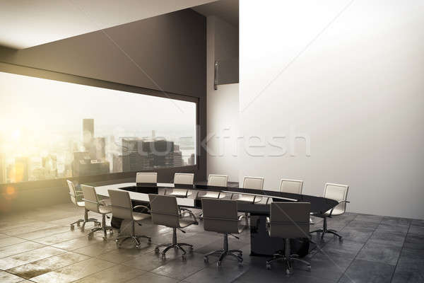 3D rendering of a modern office Stock photo © alphaspirit