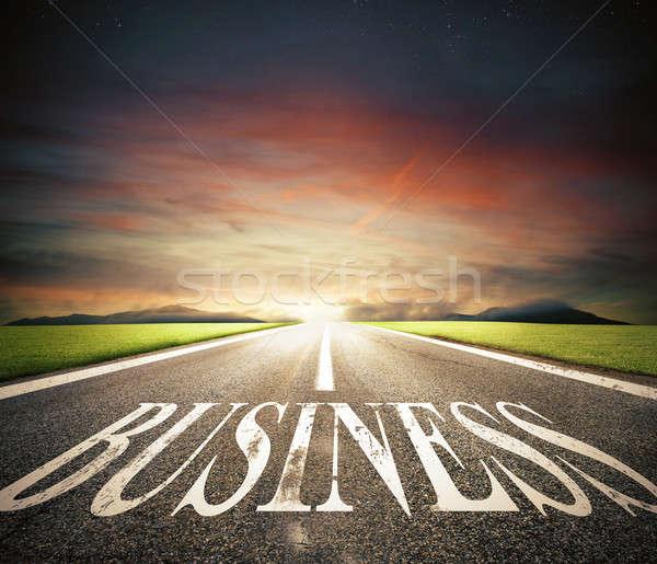 開始 ストレート ビジネス 道路 にログイン 将来 ストックフォト © alphaspirit