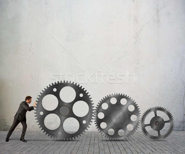 Build a business system Stock photo © alphaspirit