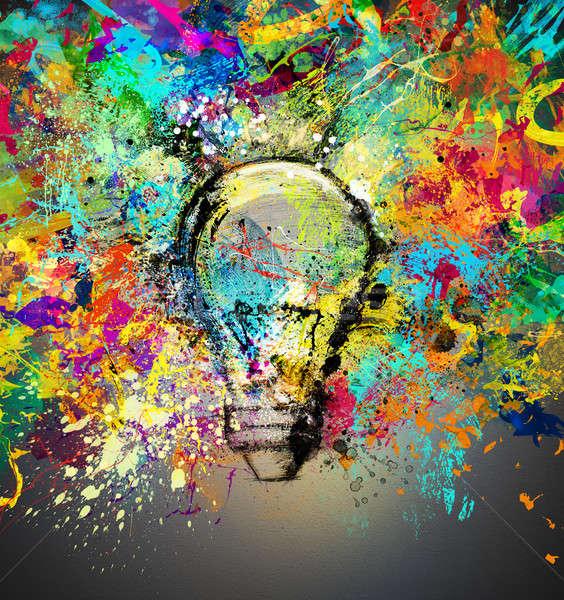Creative and colorful idea Stock photo © alphaspirit