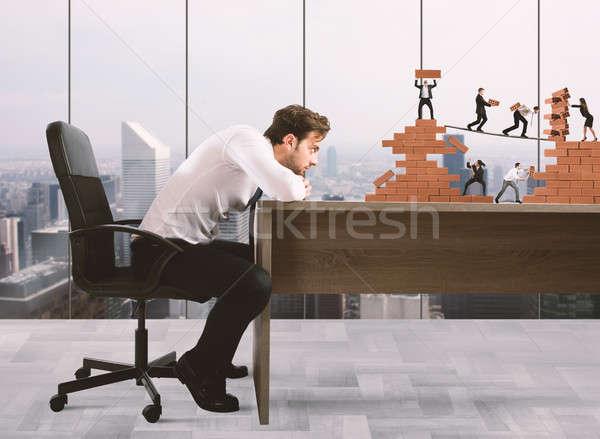 Boss бизнес-команды бизнесмен команде работу Сток-фото © alphaspirit