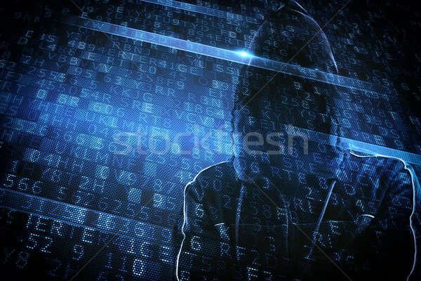 Gizlenmiş kimlik hacker adam bilgisayar teknoloji Stok fotoğraf © alphaspirit