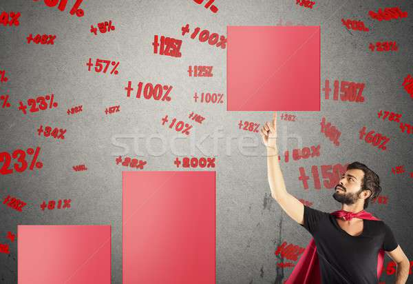 Raise the percentage of profit Stock photo © alphaspirit