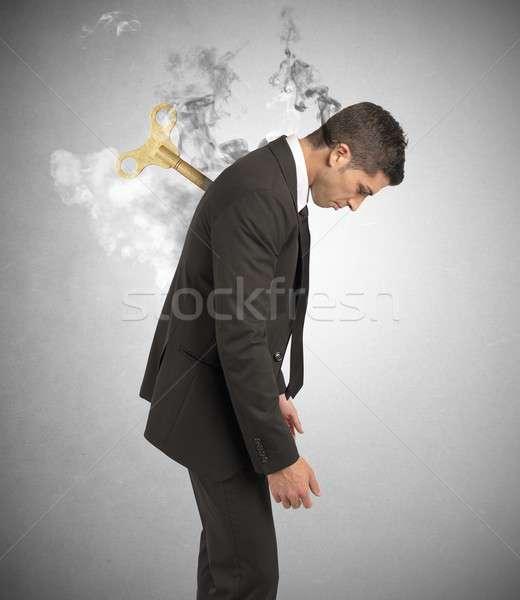 Stress affaires travaux affaires feu homme Photo stock © alphaspirit