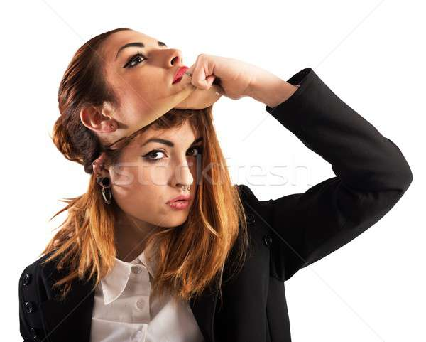 Alternative girl vs good woman Stock photo © alphaspirit