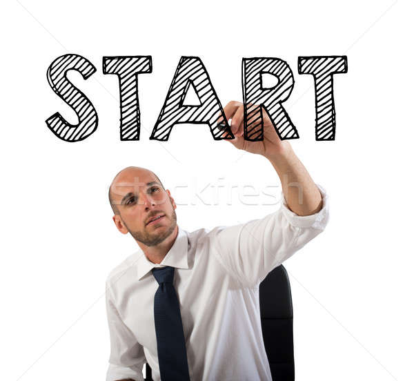 Start a business sucessful career Stock photo © alphaspirit