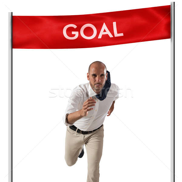 Achievement business goal Stock photo © alphaspirit