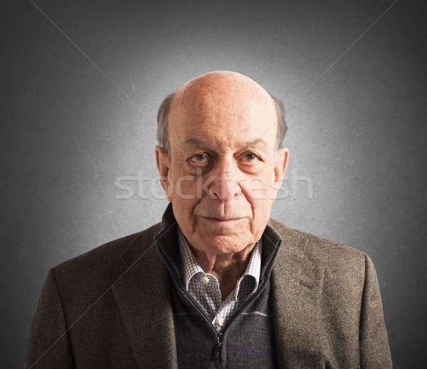 Elderly portrait Stock photo © alphaspirit
