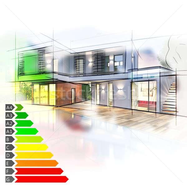 Villa энергии изображение графа бизнеса Сток-фото © alphaspirit