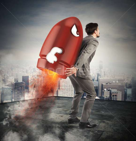 Determination and power businessman Stock photo © alphaspirit