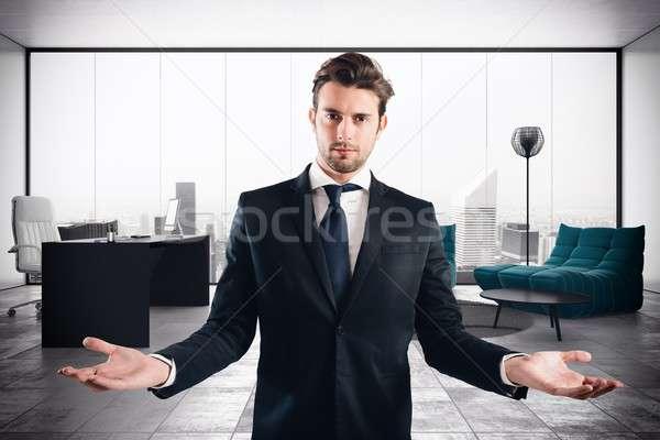Businessman luxury office Stock photo © alphaspirit