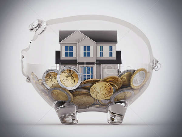 Buy house with the savings Stock photo © alphaspirit